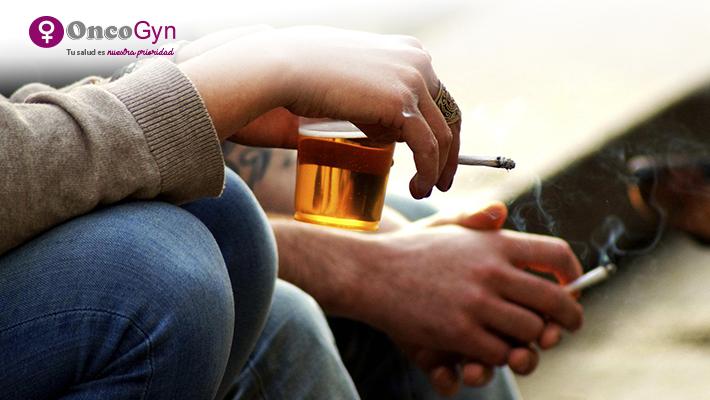 Alcohol y tabaco, factores de riesgo de Cáncer Ginecológico